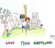 LOVE PEACE HAPPINESS